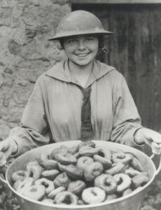 Salvation Army Girl with Donuts